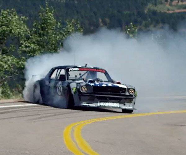 "Ken Block Burns Rubber and Tosses Gravel up Pikes Peak in ""Climbkhana"""