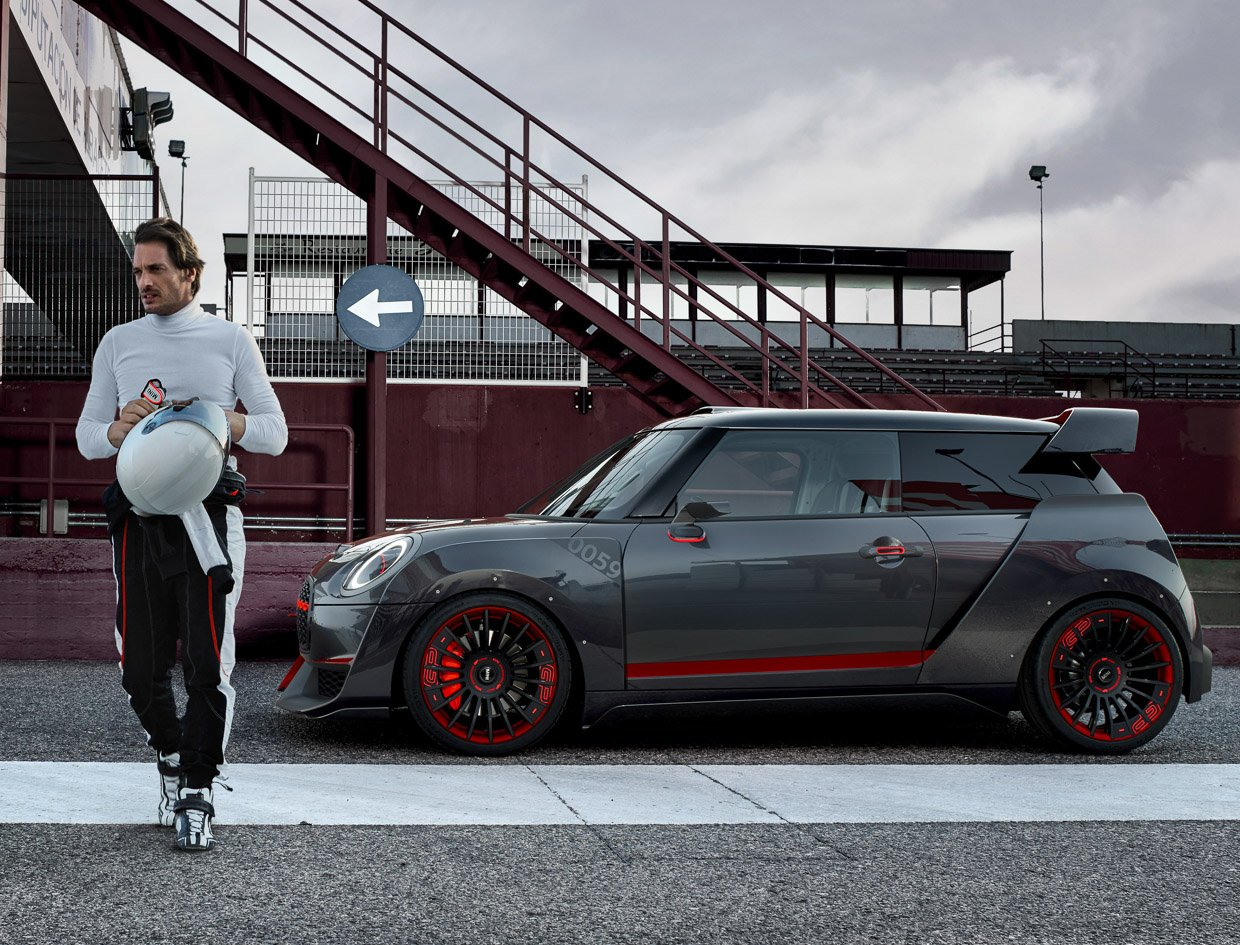 mini john cooper works gp concept is a mini badass 95 octane. Black Bedroom Furniture Sets. Home Design Ideas