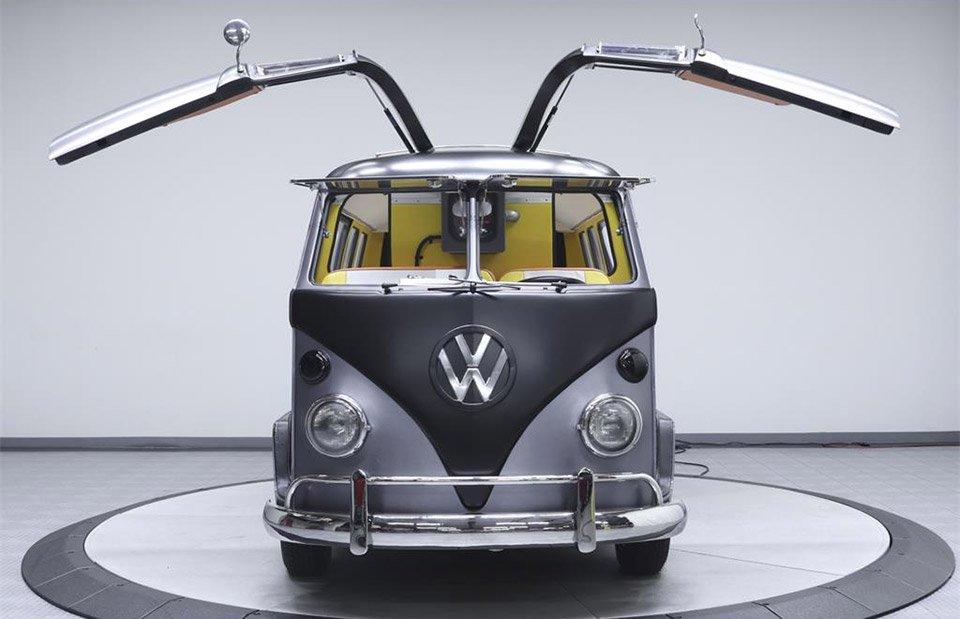 Gullwing VW Bus Pays Homage to Back to the Future's DeLorean