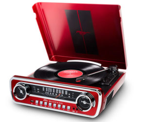 A Turntable and Radio for Classic Mustang Fans