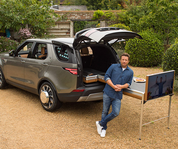 Land Rover Turns Jamie Oliver's Discovery into a Kitchen on Wheels