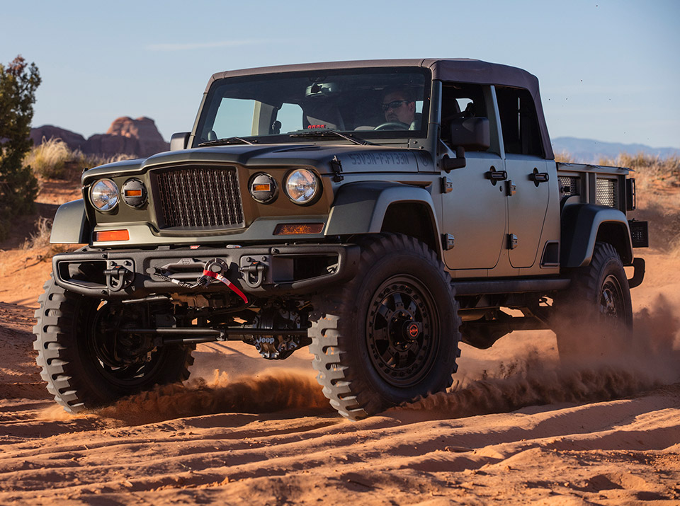 Jeep Wrangler Truck Tipped for Soft Top and Crew Chief 715 Styling