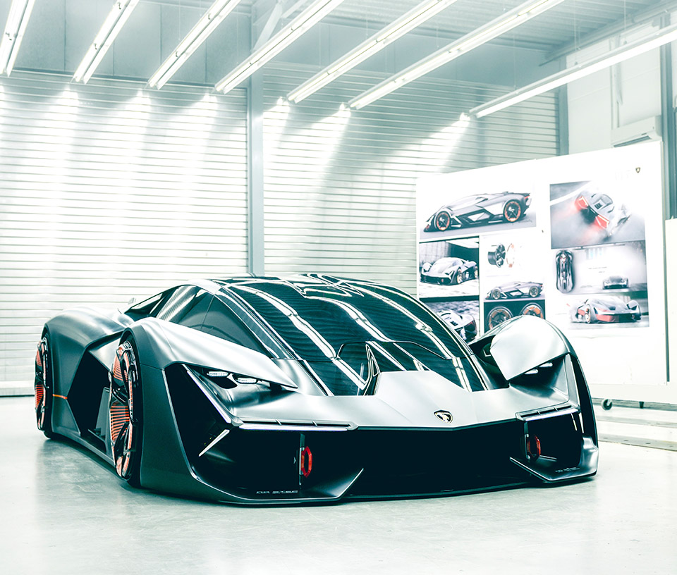 Lamborghini Terzo Millennio is an Electric Hypercar from the Future