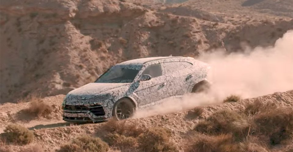 Lamborghini Urus Suv Leaves The Tarmac And Heads Off Road