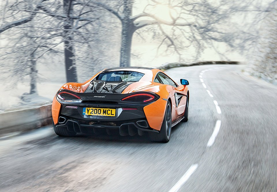 McLaren Winter Tire Pack Turns the 570S into a Winter Beater