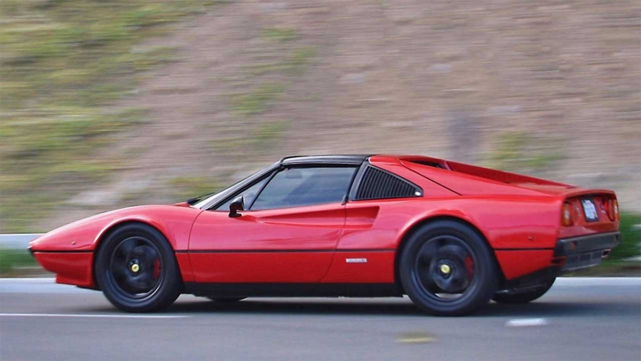 electric ferrari 308 gts for sale green wrapped in. Black Bedroom Furniture Sets. Home Design Ideas
