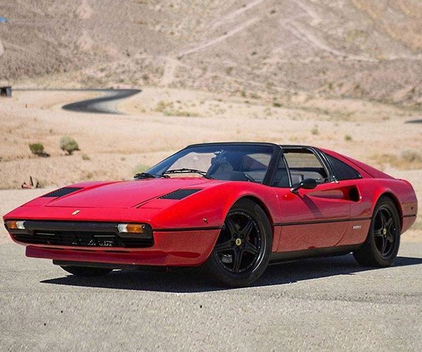 Electric Ferrari 308 GTS for Sale: Green, Wrapped in Ferrari Red