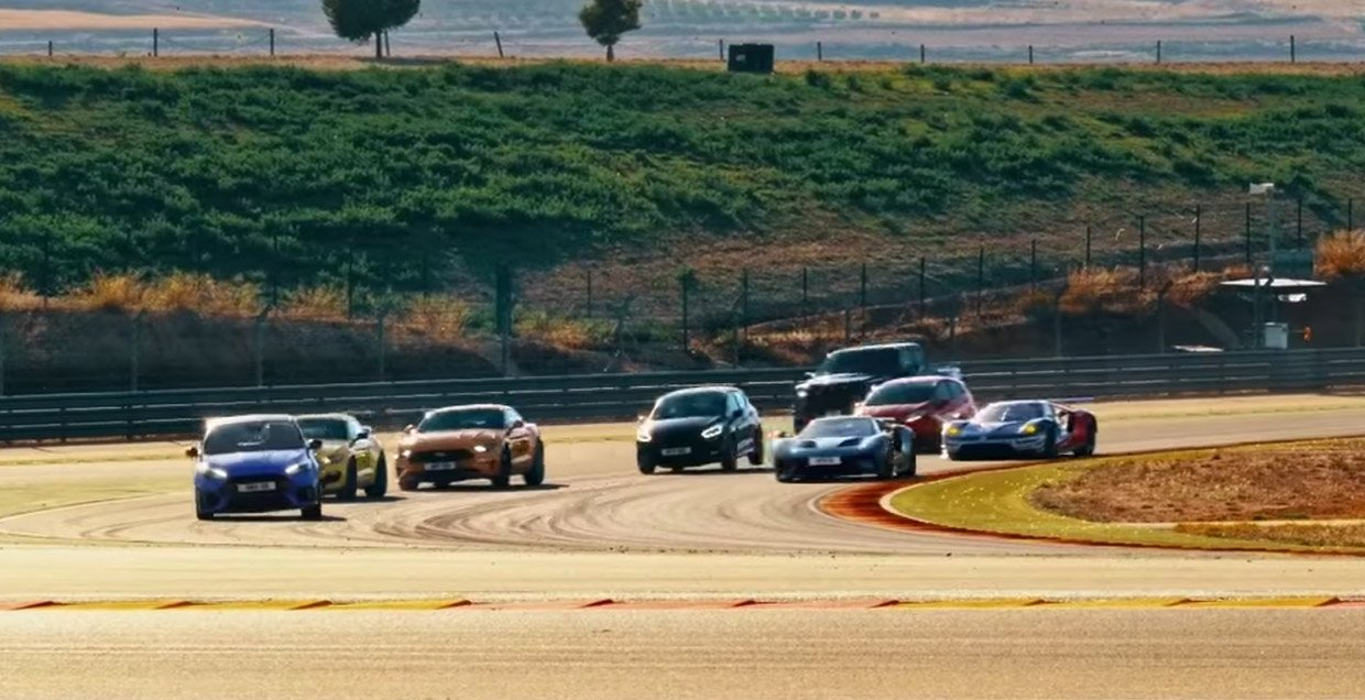 Ford Performance Races 8 of Its Models on the Same Track