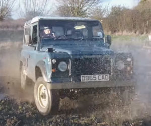 Watch a Land Rover Defender 90 Tear up a Field