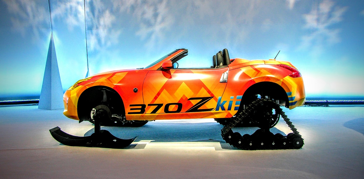 Driving the Nissan 370Zki: A Crash Course in Extreme Snowmobiling
