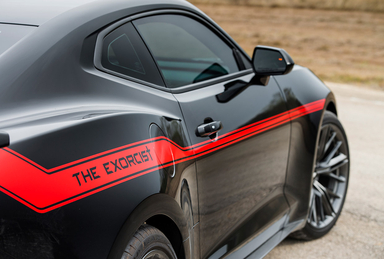 How Fast Can Hennessey S The Exorcist Camaro Zl1 Go 95 Octane