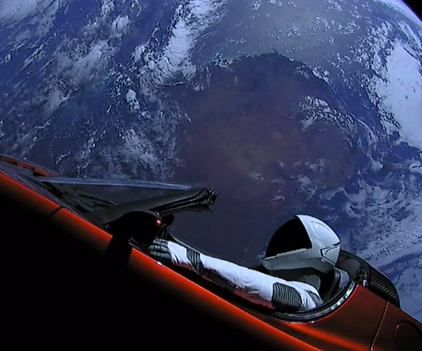 Elon Musk's Tesla Roadster Launched into Orbit