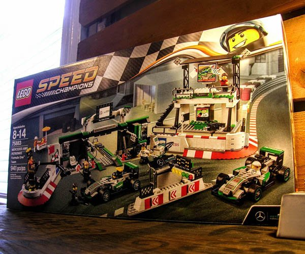 Mercedes-AMG Petronas F1 Paddock LEGO Kit Review: One Heavy Build