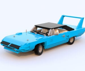 This LEGO Plymouth Superbird is the LEGO Kit We Deserve