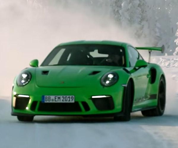 Six Minutes of Porsche 911 GT3 RS Ice Drifting