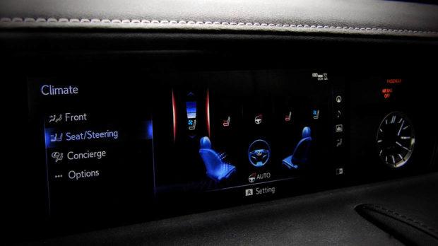 Lexus Luxury Car Display Screen Controls