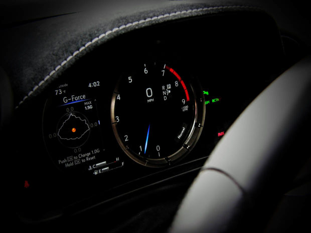 Lexus Electroluminescent Gauge Cluster in the LC 500 Sports Car