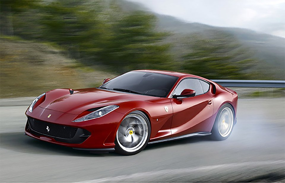 Ferrari 812 Superfast Hits Nearly 200 mph on the Autobahn