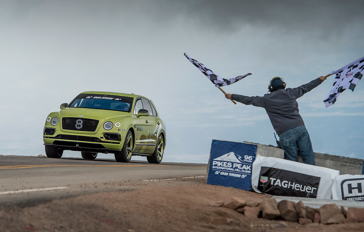 Bentley Bentayga Grabs SUV Class Record at Pikes Peak