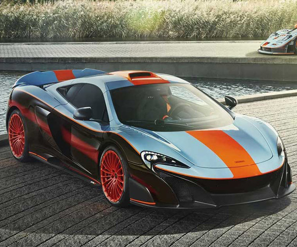McLaren 675LT Rocks Unique Gulf-inspired Livery