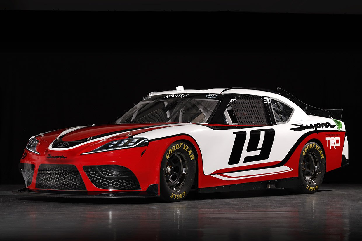 toyota outs supra design for nascar xfinity series 95 octane. Black Bedroom Furniture Sets. Home Design Ideas