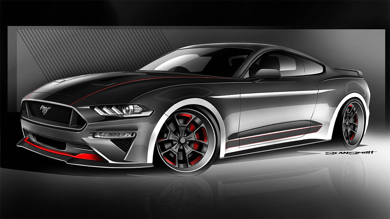 Ford Teases Mustangs for 2018 SEMA Show