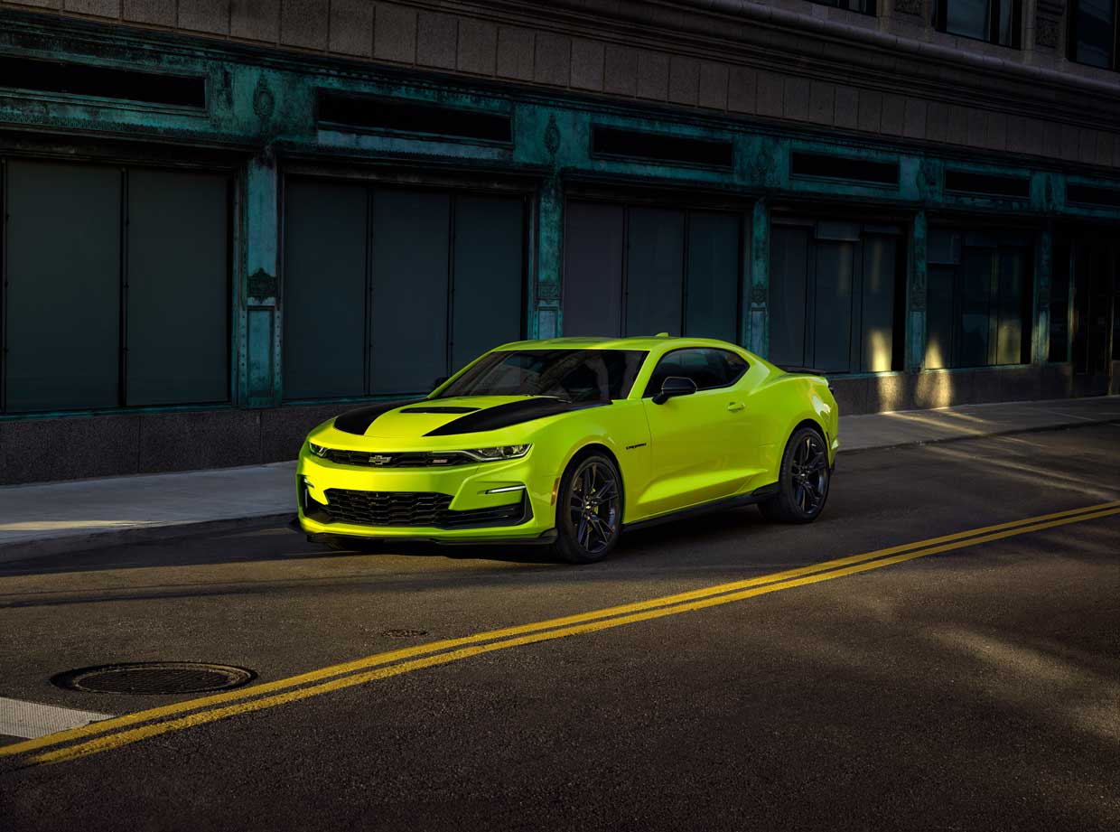 2019 Chevrolet SEMA Camaro Highlights New Shock Yellow Color