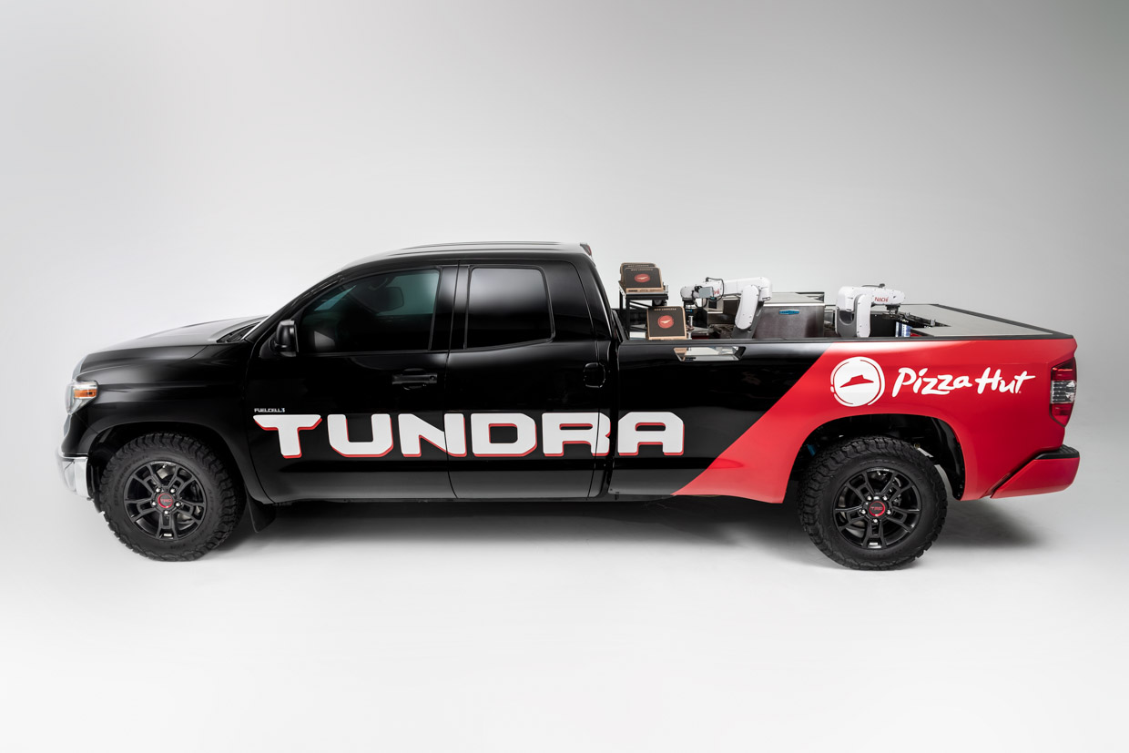 Toyota Tundra PIE Pro Serves Pizza Hut Pizza to Go