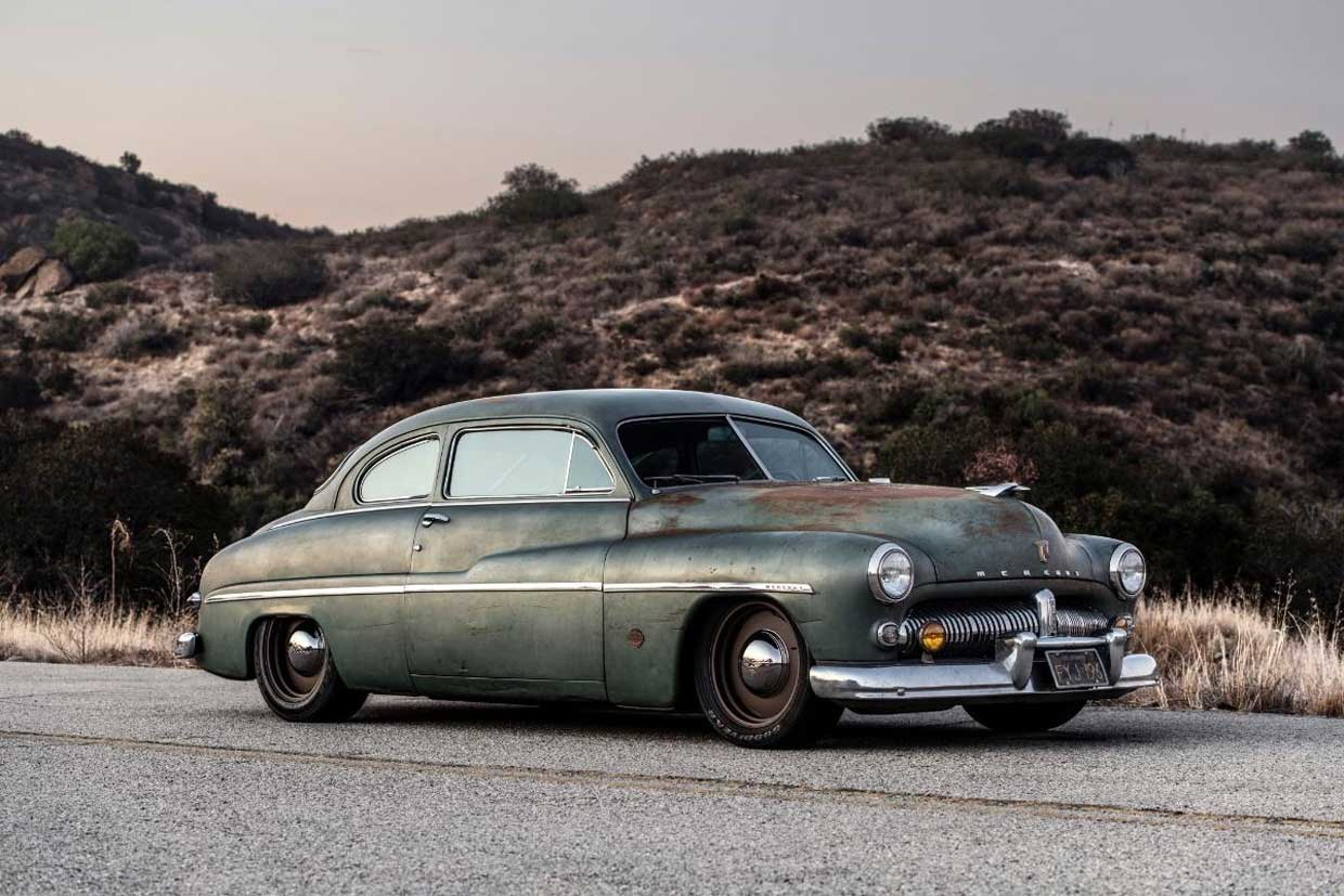 Icon's Latest is a 1949 Mercury Coupe with a Tesla Heart