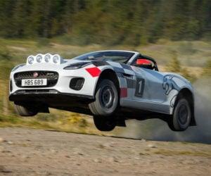 Jaguar F-TYPE Droptop Rally Car Tosses Some Gravel