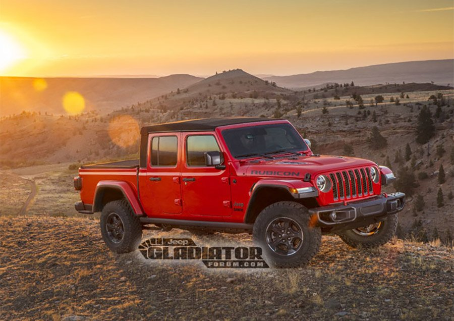 2020 Jeep Gladiator Pickup Pics and Details Leak Early
