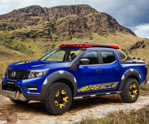 Nissan's Thunder-Blue Frontier Sentinel Concept Aims to Save Lives