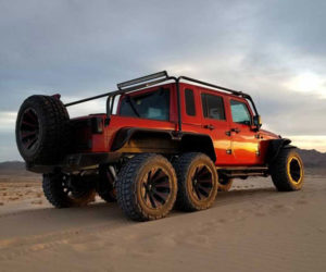This Jeep Wrangler has Six Wheels and Hellcat V8