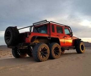 This Jeep Wrangler has Six Wheels and Hellcat V8