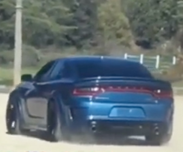 Terrible Video Allegedly Shows 2020 Widebody Charger SRT Hellcat