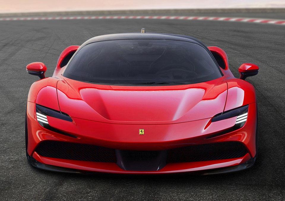 The Ferrari SF90 Stradale Is a 985hp Hybrid Hypercar