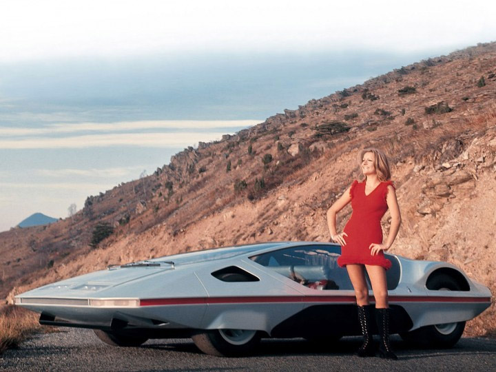 Rare 1970 Ferrari Modulo Concept Car Sounds Off