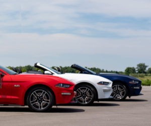 Father Gives Kids a Gift of Red, White, and Blue Mustangs