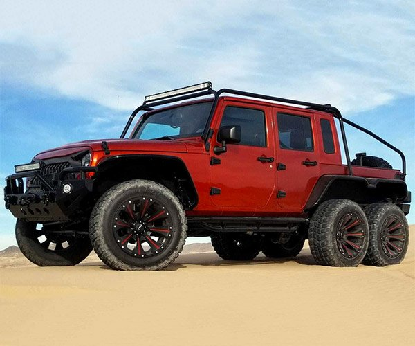 """Inferno"" Hellcat Wrangler 6-Wheeler Up for Auction"