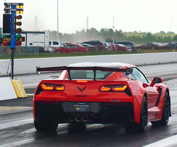 Watch a Hennessey ZR1 Corvette Run the 1/4 Mile in Under 9 Seconds