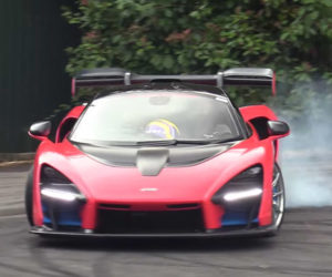 Watch a McLaren Senna Do Donuts and Burnouts