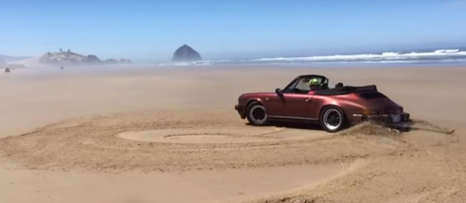 Watch a Porsche 911 Do Sand Donuts