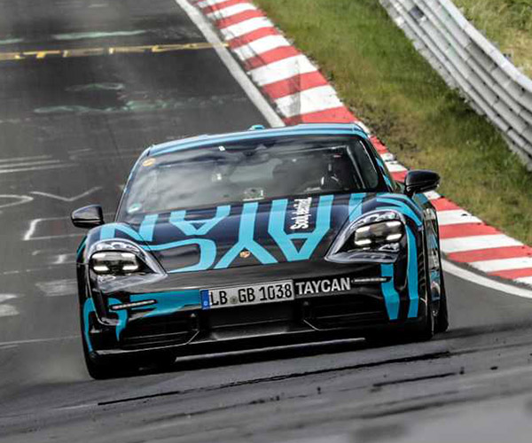 Porsche Taycan Zooms Silently Through a Nürburgring Record
