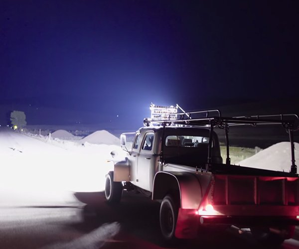 The World's Brightest Truck Lights up the Night