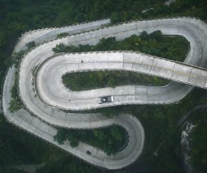 Ken Block Shreds Tires on China's Most Terrifying Road