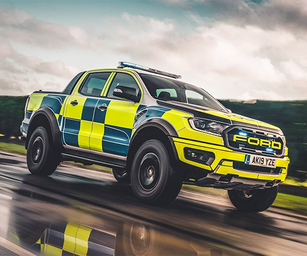This Ford Ranger Raptor Police Truck Is Almost Worth Getting Pulled Over for