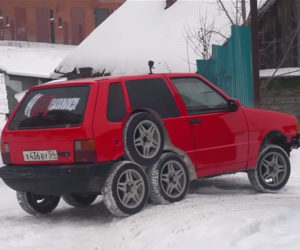 This Fiat Uno Has 8 Wheels for No Good Reason