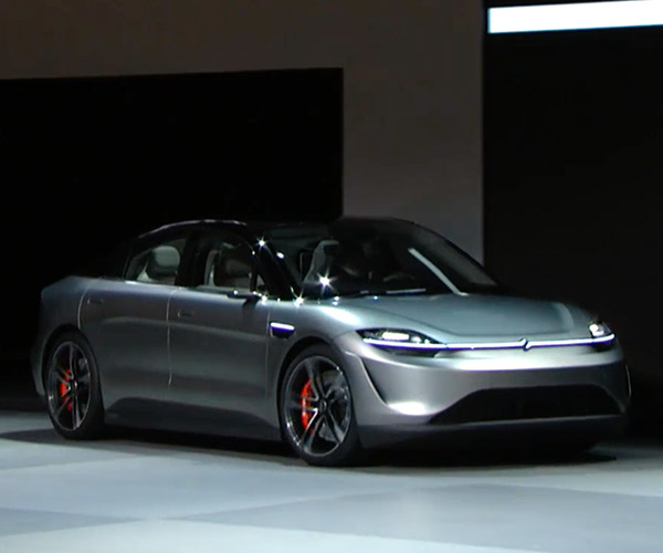 Sony Vision-S Concept Car Makes Surprise Debut at CES