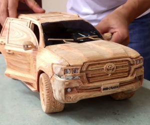 Watch a Woodworker Make a Detailed Toyota Land Cruiser Model