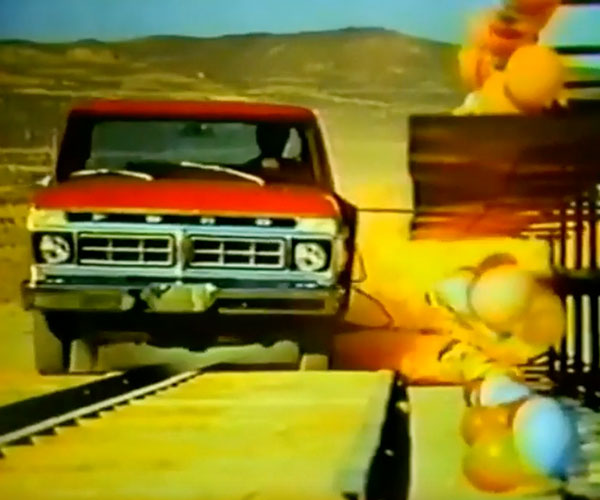 From the Vaults: Ford F100 Exploding Balloon Commercial